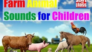 Animal Sounds for kids. Real farm animals.