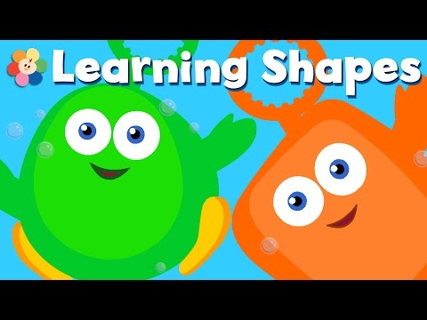 Shapes fun with Bubbles  Learning shapes for kids  Preschool Cartoons for Children  BabyFirst