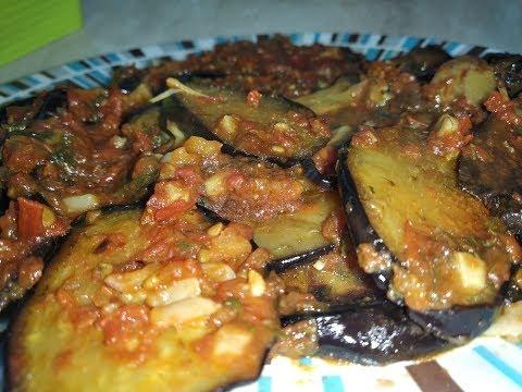 Самая Вкусная Закуска из баклажанов с помидорами и чесноком.Их полюбят все! :)