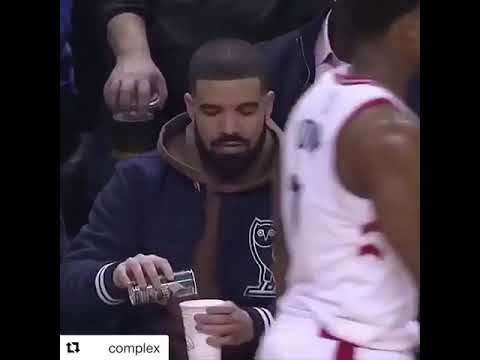 Drake Confused At Basketball Game Youtube