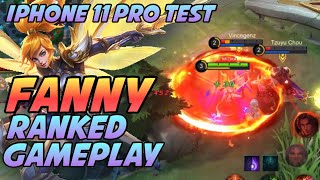RANKED GAMEPLAY || (Fanny) Iphone 11 Pro Test || Fanny MLBB