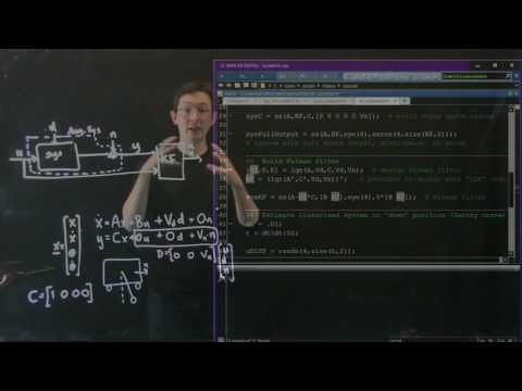 Control Bootcamp:  Kalman Filter Example in Matlab