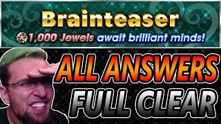 Brainteaser Full Clear #1-10 With Answers ~ KH Union χ[Cross]