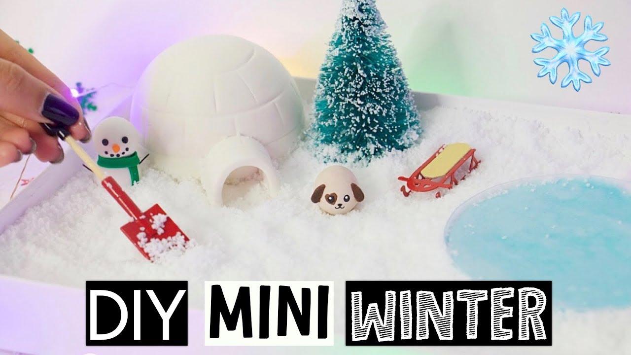 diy mini winter zen garden stress relieving slime desk decor