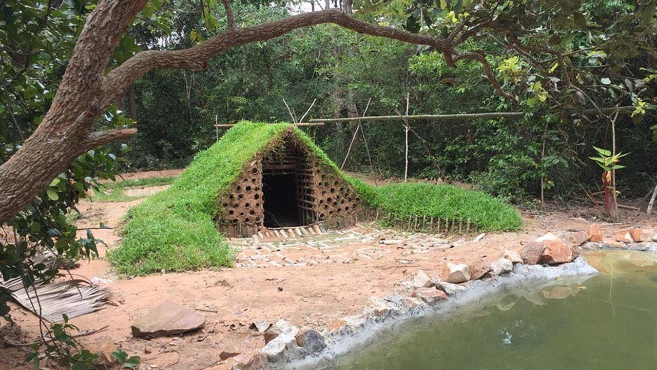 Primitive Technology: Build Underground House Full Part