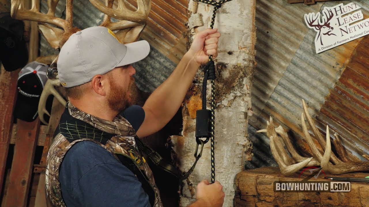How To Properly Use A Treestand Lifeline System Youtube