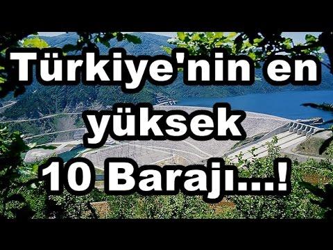 Türkiye'nin En Yüksek 10 Barajı HD