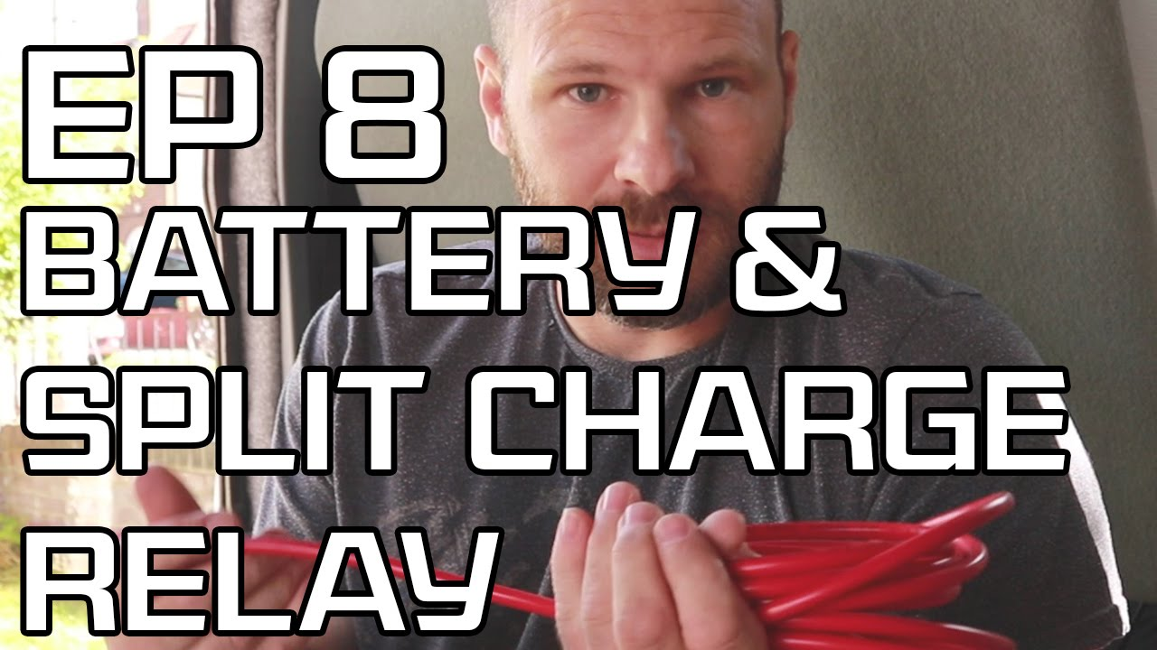 diy camper build episode 8 installing leisure battery and split charge relay [ 1280 x 720 Pixel ]