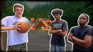 1 ON 2 Basketball Game vs. Stretch and Yahya!