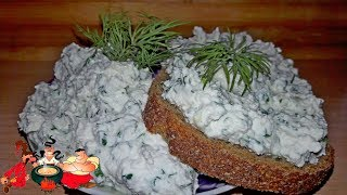Творог с зеленым луком - салат от Мишани. Cottage cheese with onion salad