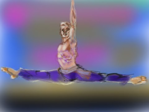Male Ballet Dancer in mid air leap by Doz 12 17 2017