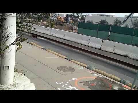 Santa Monica Expo Line Rail Construction