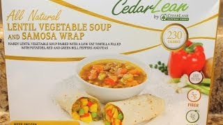 Cedar Lean: Lentil Vegetable Soup & Samosa Wrap Food Review
