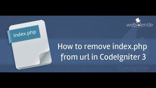 How to remove index php from url in codeIgniter 3