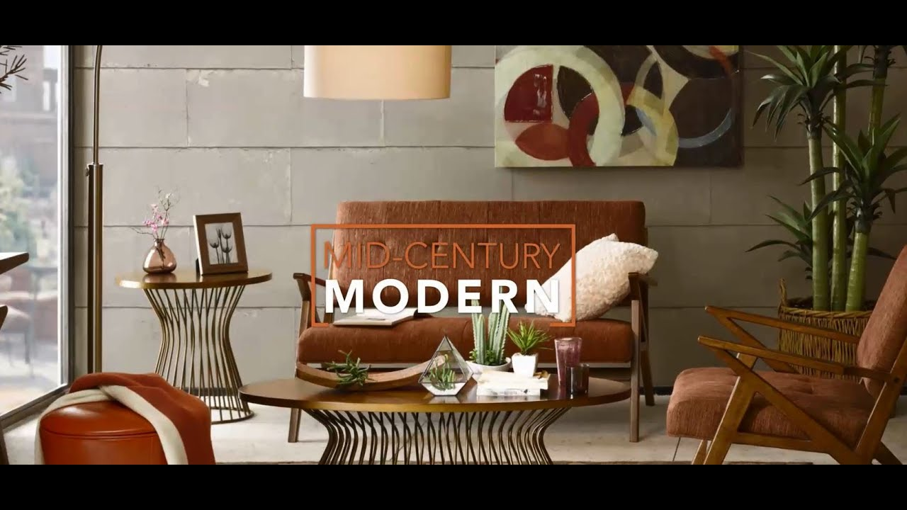 mid-century modern home decorating inspiration - youtube