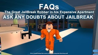🔴 Ben Live Stream Party | Roblox Jailbreak: FAQ-Ask and Clear Any Doubts of Yours About Jailbreak