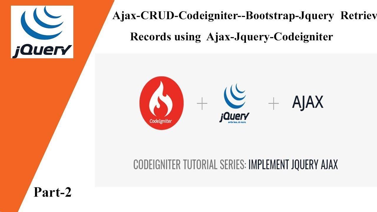 Codeigniter And Jquery Ajax – Fondos de Pantalla