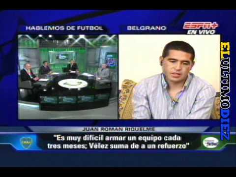 Juan Roman Riquelme en HDF (ESPN+) 19/05/11
