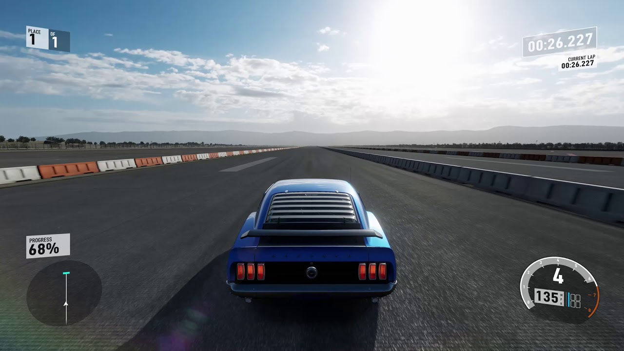 Forza motorsport 7 1969 ford mustang boss fe mile drag xbox one x
