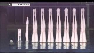 踩水技巧用於水上芭蕾水面水中同步攝影