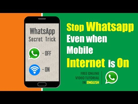 How to Stop WhatsApp Without Switching Off Internet | Simple Secret WhatsApp Trick in English