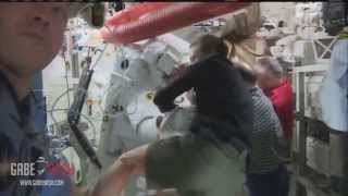 SPACEWALK ABORTED AFTER LIQUID LIKE WATER GOT INSIDE OF HELMET ASTRONAUT JULY 17, 2013