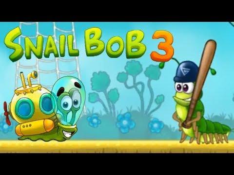 Улитка Боб 3 (Snail Bob 3) прохождение #6 (уровни 26-30) Боб в роли Клоуна и Батискафа