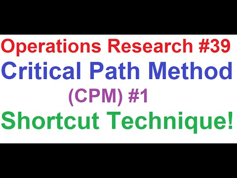 Operations Research Tutorial #39: Network Analysis #7_Critical Path Method(CPM) #1_Shortcut Method!