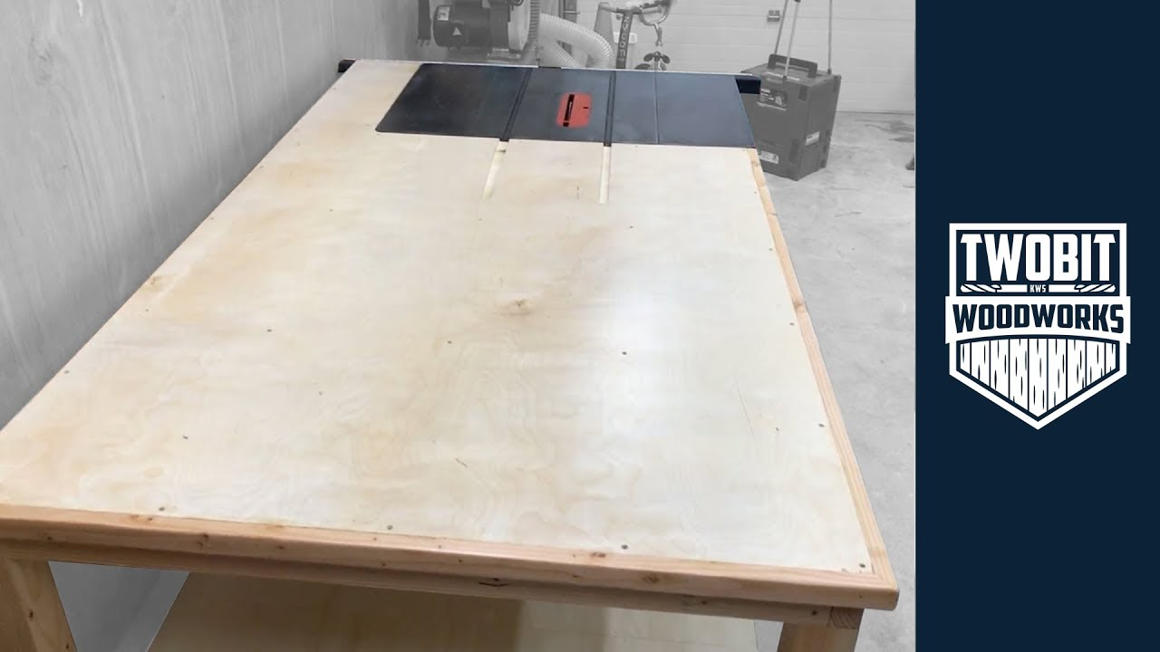 Table Saw Outfeed Table for a Small Shop | How to Build - Woodworking
