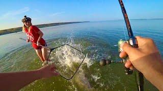 БЛ… ОН СЛОМАЛ ПОДСАК И ПОТАЩИЛ ЕЁ ЕЛЕ ДОГНАЛ рыбалка на сазан
