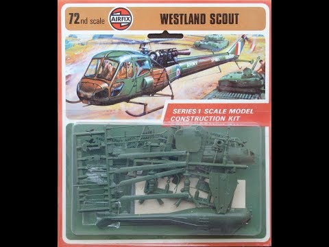 Airfix 1 72nd Scale Westland SCout AH 1 Final Reveal video