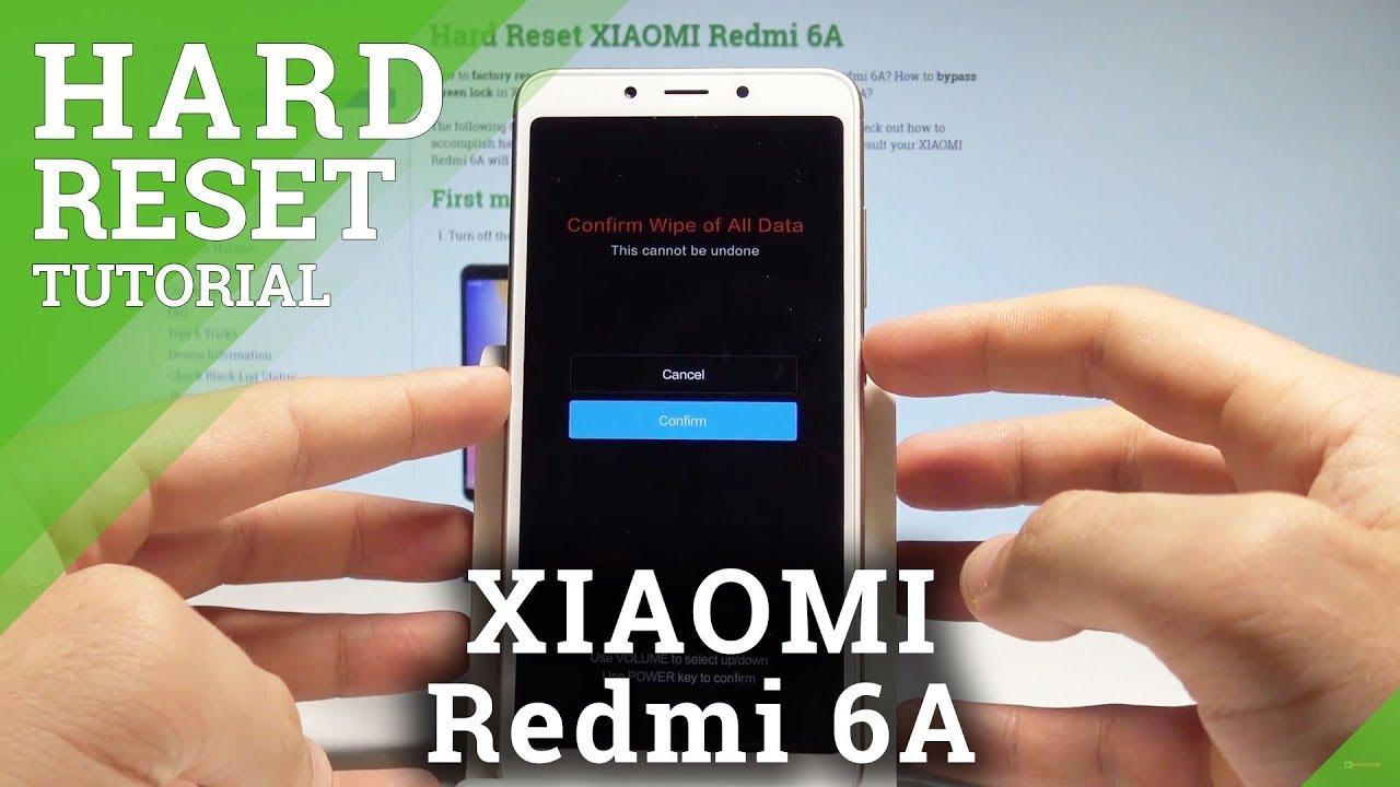Hard Reset XIAOMI Redmi Note 6 Pro - HardReset info