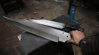 Forging a gigantic Bowie sword, part 1, forging the blade.