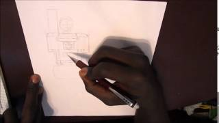How to Draw G1 Megatron (The Torso part 1)