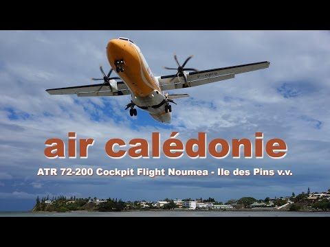 Air Caledonie ATR 72 cockpit flight, amazing Noumea views! By [AirClips full flight series]