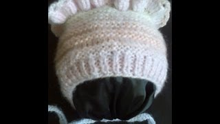 Детская шапочка (чепчик) вязание на спицах ч.1. Children cap (cap) knitting part 1