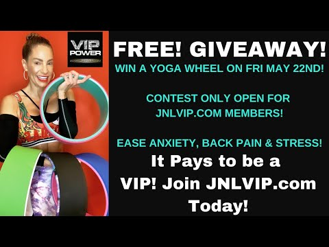 YOGA WHEEL GIVEAWAY! By Jennifer Nicole Lee for www.JNLVIP.com Members Only!