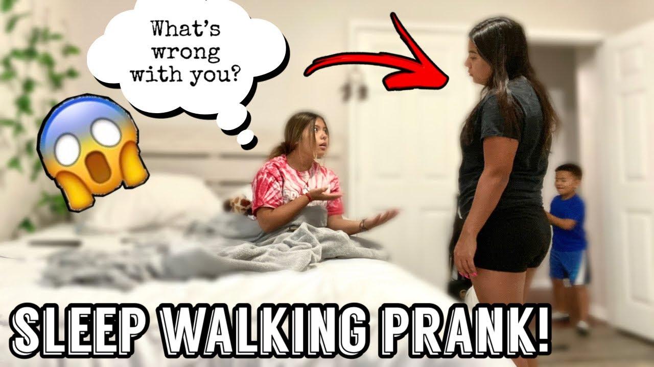 SLEEP WALKING PRANK ON MY DAUGHTER