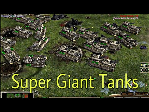 Gigantic Tank Spam - GLA Assault General Vs USA Robots General 2 Vs 4