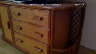 видео обзор тумбы под TV из ротанга