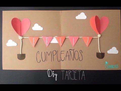 Tarjeta de feliz cumplea os l diy youtube - Regalos de cumpleanos originales hechos a mano ...