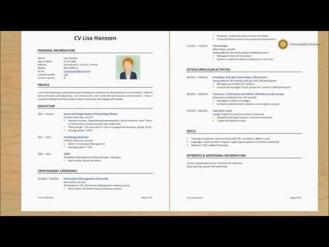 Applying for a job (CV)