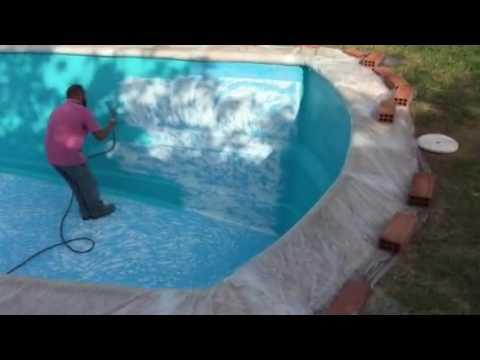 Pintado de piscina de poliester youtube for Pintado de piscinas