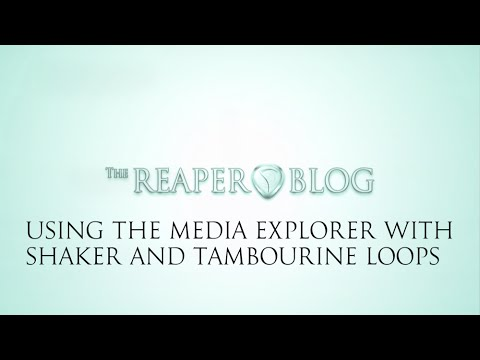 Using the media explorer with shaker and tambourine loops