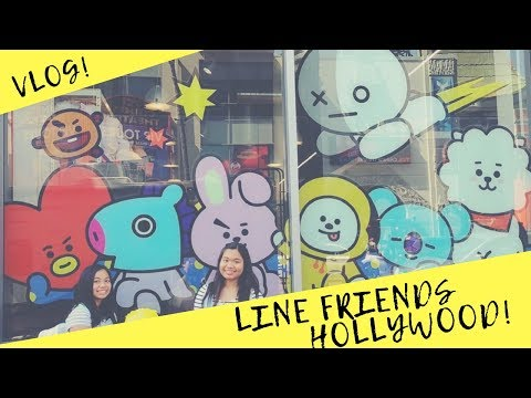 [VLOG #5] Visiting LINE Friends/BT21 Store in Hollywood!