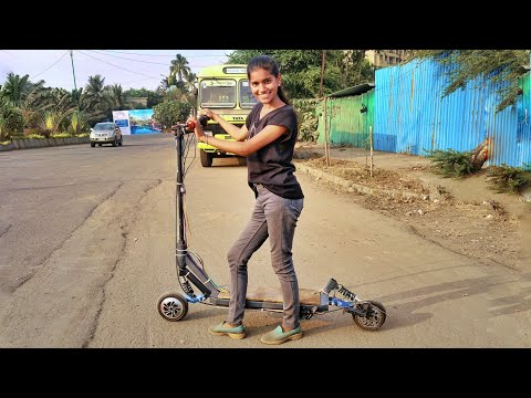 DIY ELECTRIC SCOOTER FROM HOVERBOARD