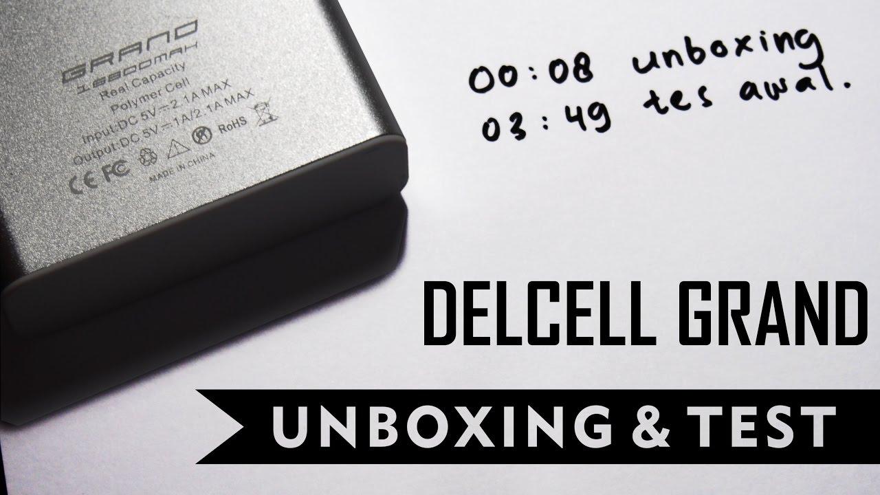Unboxing Test Powerbank Delcell Grand Real 16800mah Twee 4000mah Capacity