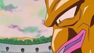 Goku becomes ssj4 against Nuova Shenron