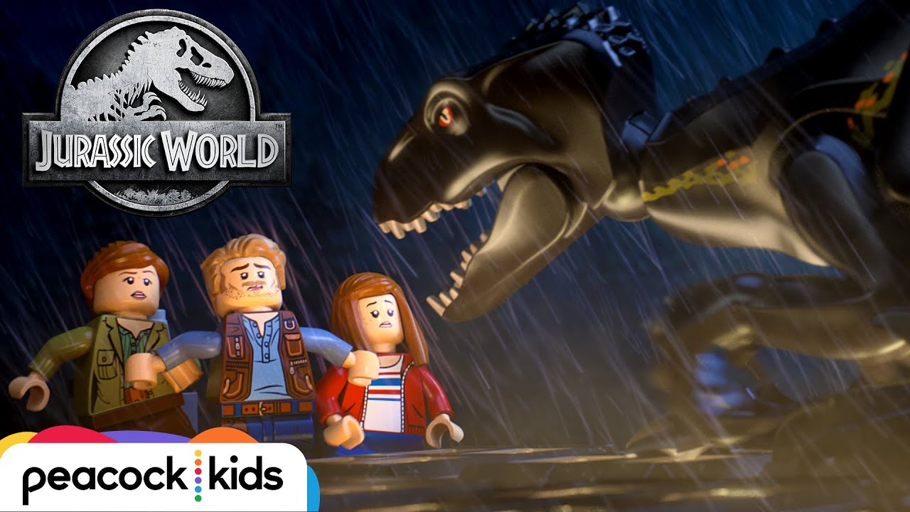 escape the indoraptor lego jurassic world fishing