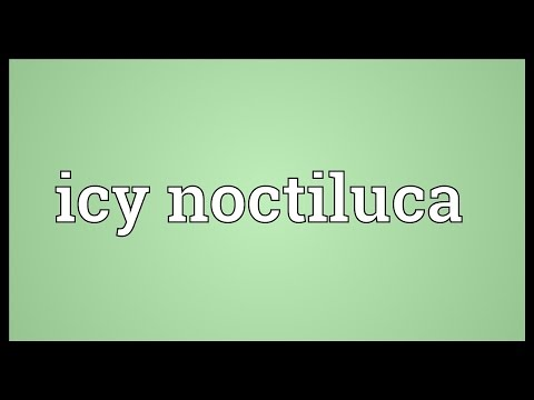Icy Noctiluca Meaning Youtube
